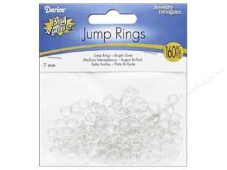 beading & jewelry making supplies: Darice Jewelry Designer Jump Rings 1/4 in. Silver Bright 160 pc.