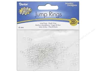 beading & jewelry making supplies: Darice Jewelry Designer Jump Rings 5/32 in. Bright Silver 288 pc.