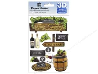 stickers: Paper House Sticker 3D Wine Country
