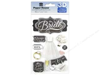 stickers: Paper House Sticker 3D The Bride