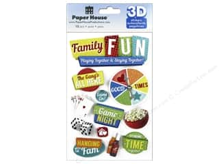 Paper House Sticker 3D Family Fun