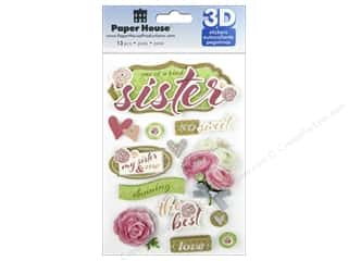 Paper House Sticker 3D Sisters