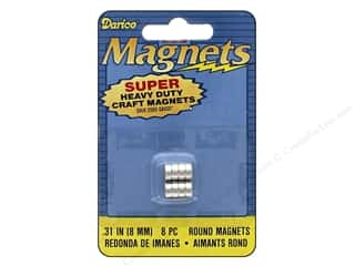 craft & hobbies: Darice Heavy Duty Magnets 8 mm Round 8 pc.