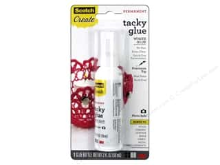 Scotch Adhesive Quick Dry Tacky Glue Acid Free 2 oz.
