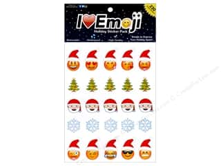 scrapbooking & paper crafts: Everything Emoji Sticker Medium Holiday 230pc