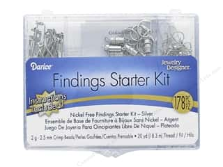 craft & hobbies: Darice Findings Starter Kit - Nickel Free Silver
