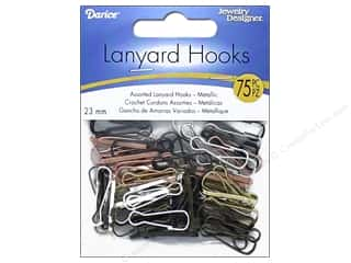 Darice Lanyard Hooks 7 x 23 mm Assorted Metallic 75 pc.