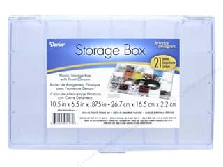storage : Darice Storage Box 10 1/2 x 6 1/2 x 7/8 in. with 21 Compartments