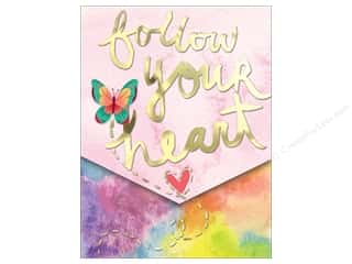 scrapbooking & paper crafts: Molly & Rex Pocket Note Pad Words In Bloom Follow Your Heart