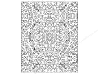 American Crafts Adult Coloring Folder 9 1/2 x 12 in. Hall Pass Kaleidoscope