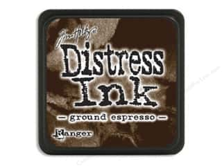 stamps: Tim Holtz Distress Mini Ink Pad by Ranger Ground Espresso