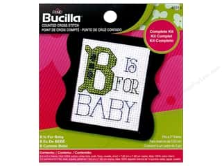 yarn & needlework: Bucilla Counted Cross Stitch Kit 2 1/2 in. Mini B Is For Baby