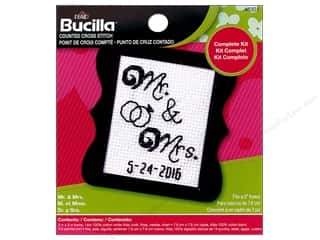yarn & needlework: Bucilla Counted Cross Stitch Kit 2 1/2 in. Mini Mr & Mrs