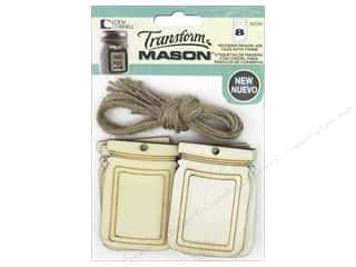 Loew Cornell Transform Mason Wooden Tags 8 pc. Mason Jar