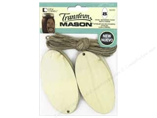 Loew Cornell Transform Mason Wooden Tags 8 pc. Large Ovals