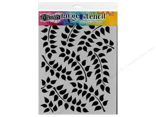 dies: Ranger Dylusions 9 x 12 in. Stencil Fronds of Foliage