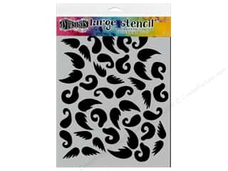 craft & hobbies: Ranger Dylusions 9 x 12 in. Stencil Stash Of Tache