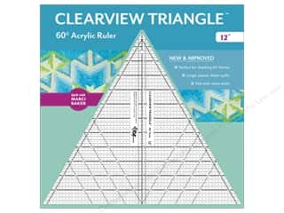 60 degree triangle ruler: C&T Publishing Clearview Triangle 60 Degree Acrylic Ruler