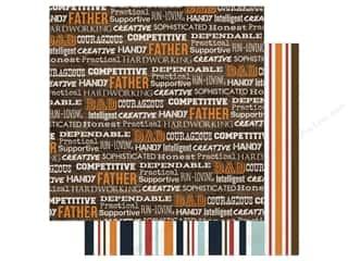 scrapbooking & paper crafts: Echo Park 12 x 12 in. Paper Team Dad Words (15 sheets)