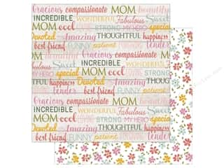 Echo Park 12 x 12 in. Paper Beautiful Mom Words (15 sheets)