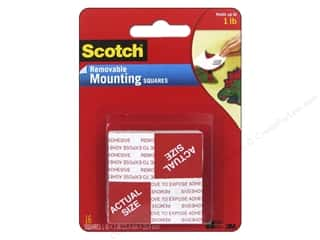 glues, adhesives & tapes: Scotch Mounting Squares Removable 1 in. 16 pc