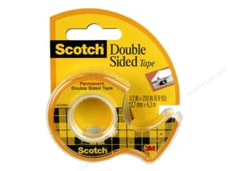 glues, adhesives & tapes: Scotch Tape Double Sided .5 in. x 250 in.