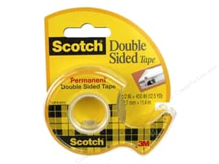 glues, adhesives & tapes: Scotch Tape Double Sided Permanent Tape .5 in. x 450 in.
