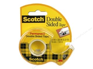 glues, adhesives & tapes: Scotch Tape Double Sided Permanent .75 in. x 300 in.