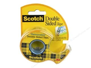 glues, adhesives & tapes: Scotch Tape Double Sided Removable .75 in. x 200 in.