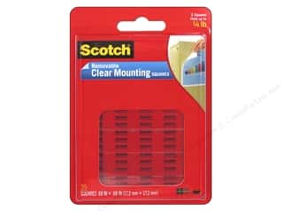 glues, adhesives & tapes: Scotch Mounting Square Removable 5/8 in.  Clear 35 pc