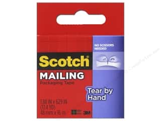 glues, adhesives & tapes: Scotch Tape Tear-By-Hand Packaging Clear 629 in.