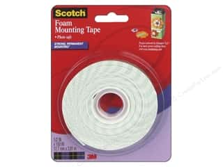 "glues, adhesives & tapes: Scotch Mounting Foam Tape .5""x 150"""