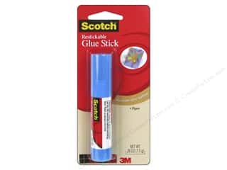Scotch Glue Stick Restickable .26oz White