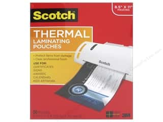 scrapbooking & paper crafts: Scotch Laminating Pouch Thermal 8.5 in. x 11 in.  50 pc