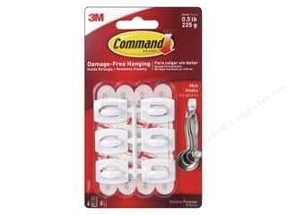glues, adhesives & tapes: Command Adhesive Hook Mini White 6 pc