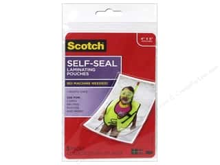 scrapbooking & paper crafts: Scotch Self Seal Laminating Pouch 4 x 6 in. 5 pc. Glosssy