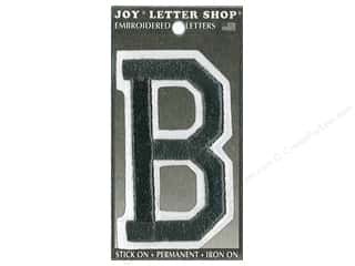 "sewing & quilting: Joy Lettershop Iron-On Embroidered Letter ""B"" 3 in. Black"