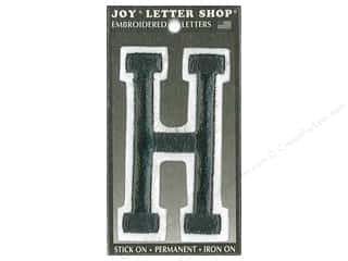 "Joy Lettershop Iron-On Embroidered Letter ""H"" 3 in. Black"