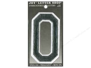 "Joy Lettershop Iron-On Embroidered Letter ""O"" 3 in. Black"