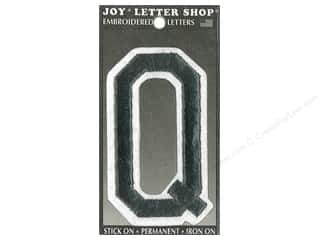 "Joy Lettershop Iron-On Embroidered Letter ""Q"" 3 in. Black"