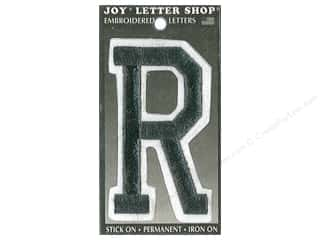 "sewing & quilting: Joy Lettershop Iron-On Embroidered Letter ""R"" 3 in. Black"