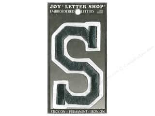 "sewing & quilting: Joy Lettershop Iron-On Embroidered Letter ""S"" 3 in. Black"