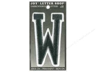 "sewing & quilting: Joy Lettershop Iron-On Embroidered Letter ""W"" 3 in. Black"