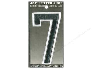 "Joy Lettershop Iron-On Embroidered Number ""7"" 3 in. Black"