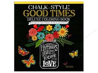 Design Originals Chalk-Style Good Times Deluxe Coloring Book