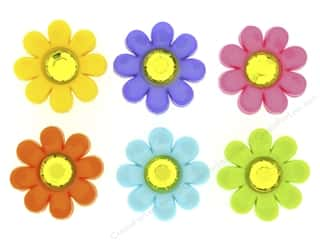 craft & hobbies: Jesse James Dress It Up Embellishments Delightful Daisies