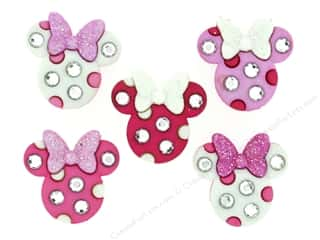 scrapbooking & paper crafts: Jesse James Dress It Up Embellishments Disney Minnie Rhinestone Head