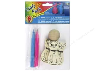 craft & hobbies: Darice Color-In Wood Bowling Kit - Cats