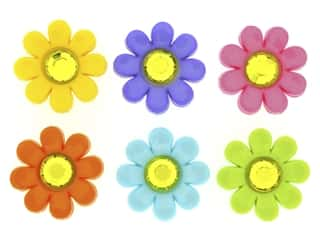novelties: Jesse James Dress It Up Embellishments Delightful Daisies