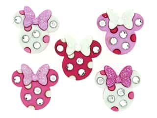 craft & hobbies: Jesse James Dress It Up Embellishments Disney Minnie Rhinestone Head